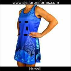 Netball A-Line Dress. Maori. Cultural Design.