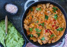 MIN BESTE STROGANOFF | servert med grønnsaksmos - Fitfocuse Stew, Casserole, Recipies, Curry, Squash, Ethnic Recipes, Dinners, Food, Red Peppers