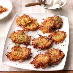 Country Potato Pancakes Potato Latkes, Potato Pancakes, Bacon Potato, Potato Salad, Potato Dishes, Potato Recipes, Chicken Recipes, Pancake Recipe Taste, Pancake Recipes