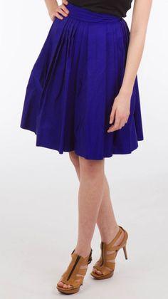 The Mercantile Co - Naeem Khan Ink Blue Pleated Skirt