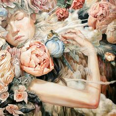Ethereal Oil Paintings by Meghan Howland painting birds