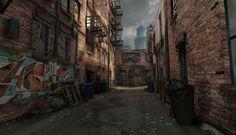 ART OF DANNY WEINBAUM: Grungy Alley Environment UDK