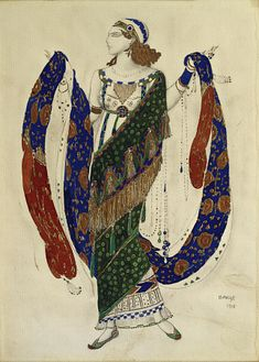 Costume Design for a Dancer from 'Cleopatra', 1910