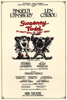 Amazon.com: Sweeney Todd (Broadway) Poster: Lithographic Prints: Posters & Prints