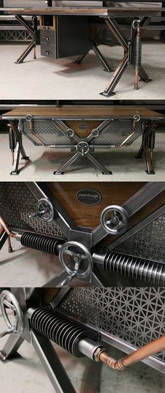 The Steampunk Desk - arguably one of Steel Vintage's most impressive designs. The combination of hand fabricated radiators, copper pipe work and cast steel valves ensures an authentic look.