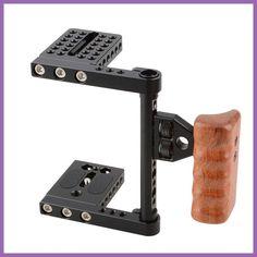 Camera De Fotos DSLR Video Camera Cage With Wooden Handle DSLR Camera Cage Rig Steadicam For canon nikon C1392