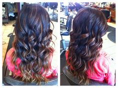 most gorgeous ombre and curl I've seen recently