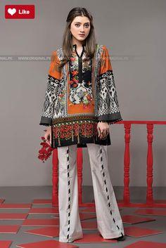 Ethnic Floral Ridge Festive 2017 - Original Online Shopping Store Whatsapp: 00923452355358 Website: www. Pakistani Fashion Casual, Pakistani Dresses Casual, Pakistani Dress Design, Indian Fashion, Casual Dresses, Formal Dresses, Stylish Dresses For Girls, Lovely Dresses, Frock Fashion