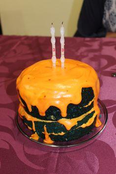 halloween blue pumpking cake