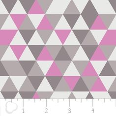 """Elixier"" Dreiecke, lila, grau,  Camelot Fabrics von FrauFrech-und-HerrFroehlich auf DaWanda.com"