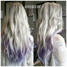 Instagram media by bescene - DIPPED IN LAVENDER @Pravana. For this soft rooty platinum I used @Schwarzkopfusa Igora Royal 8-11, E-1 20vol for her base, and toned everything with 9.5-1, 10-2, 0-22 7vol. styled by my assistant @apes_bescene #BESCENE