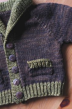 gramps stylish cardigan for your grouchy little old man by Emily Wessel