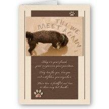 Pet Sympathy Loss of a Dog Greeting Cards