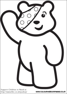 children in need colouring pages 2 options - Colouring Template