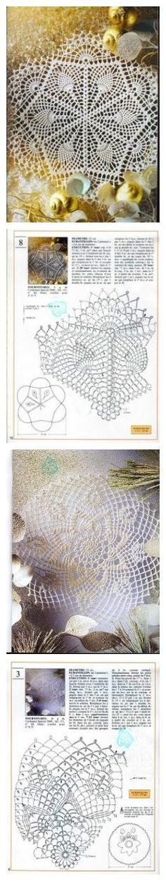 Many free crochet doily patterns. Free Crochet Doily Patterns, Crochet Circles, Crochet Diagram, Tatting Patterns, Crochet Chart, Thread Crochet, Filet Crochet, Crochet Motif, Crochet Designs