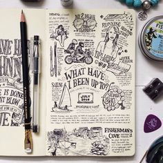 Writing in Notebooks, lettering, fonts....need to work on this area
