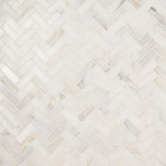"White Jade 1"" x 3"" Herringbone Polished Marble Tile | Tilebar.com Marble Look Tile, Marble Mosaic, Mosaic Tiles, Wall Tiles, Subway Tiles, Mosaics, Mosaic Bathroom, Small Bathroom, Bathroom Ideas"