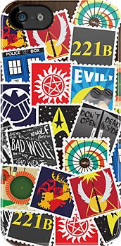 Nerd's Stamp Collection *REQUESTED* by mcgani  - iphone case