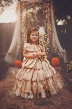 """""""Enchanted Eloquence"""" is the perfect Couture Flower Girl Dress! This one of a kind hand-made design is a Timeless classic that will steal the show! Our lovely satin dress features a luxurious triple t"""