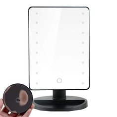Runytek 16 LEDs Battery Operated Cordless Touch Screen Lighted Vanity Cosmetic Make Up Mirror Makeup Mirror with LED Lights Magnification Spot Mirror Black * Continue to the product at the image link. (This is an affiliate link) Mirror With Led Lights, Skin Care Tools, Black Mirror, Eyebrow Makeup, Battery Operated, Image Link, Vanity, Make Up, Touch