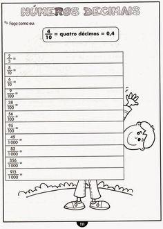CLUBE DA COR ATIVIDADES ESCOLARES : Números decimais , 30 atividades prontas para imprimir