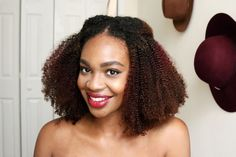 How I Colored and Styled My Kinky Curly Yaki U-Part Wig http://klassykinks.com/colored-styled-kinky-curly-yaki-u-part-wig/