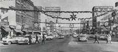 Downtown Topeka at Christmas Kansas Usa, Historical Pictures, City Streets, Louvre, Street View, Memories, History, Building, Mud
