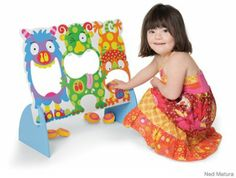 Kids with Down syndrome can have difficulty with fine motor skills, so games and puzzles with just a few large pieces to work with are often a hit. Especially good are games like this Monster Toss -- its level of difficulty can be adjusted to custom-fit the child and her developmental stage. Try starting out close, and then slowly moving farther back! ($34.99; alextoys.com)