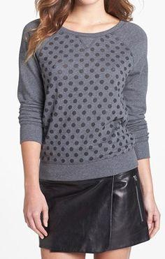 Grey burnout dot sweatshirt http://rstyle.me/n/e5jgknyg6