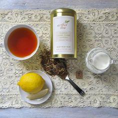 Organic Lemon Cream Rooibos Herbal Tea - luxury loose leaf blend by ArtfulTea ~ on Square Market { #rooibos #tea }