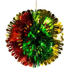 goldredgreen foil ball hanging decoration 22cm