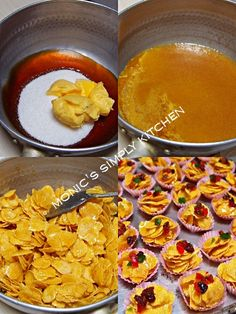 membuat cornflakes madu Nom Nom, Biscuits, Cereal, Food And Drink, Cooking Recipes, Cookies, Breakfast, Festive, Crack Crackers