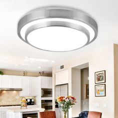 15W Minimalism Double-layer Aluminum LED Ceiling Light For Indoor $27 Kitchen replacement?