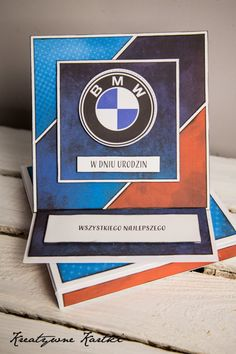 Kartka urodzinowa bmw Paper Cards, Card Making, Bmw, Ideas, Thoughts, Cardmaking, Letter Crafts