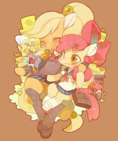 ThePonyArtCollection: AJ and Apple Bloom