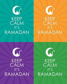 Free Printable - Keep Calm It's Ramadan I like how the mosque is inside of the crescent