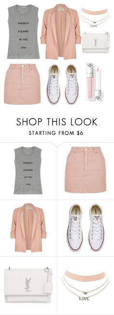 """Spring Sunday"" by thatsolia15 ❤ liked on Polyvore featuring Rebecca Minkoff, Topshop, River Island, Converse, Yves Saint Laurent and Charlotte Russe"
