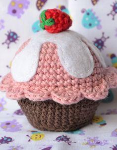 Es un Mundo Amigurumi: Cupcake!!!! Patrón gratis...