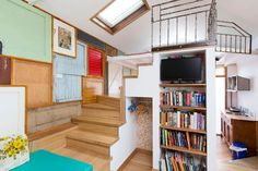 Funky Central Loft Studio - Lofts for Rent in West Hobart, Tasmania, Australia Lofts For Rent, Loft Studio, Tasmania, Creative Design, Bookcase, Shed, Cottage, Shelves, Cool Stuff