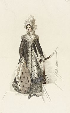 10-11-11 Walking dress, 1810's