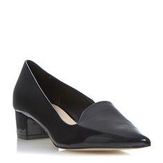 DUNE LADIES AFFINA - Pointed Toe Block Heel Court Shoe - black | Dune Shoes Online