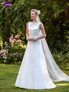 Robe de mariée Dina, robe de mariée avec boléro dentelle, robe de mariage sur…