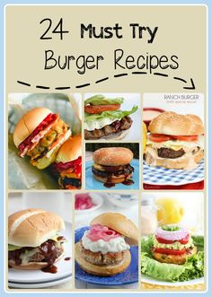 20 Must Try Bugers! These are amazing to make on the barbque in the summer and year round