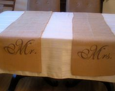 Items similar to Monogrammed Burlap Table Runner 14 x 114 Weddings on Etsy Fall Wedding, Rustic Wedding, Our Wedding, Dream Wedding, Wedding Stuff, Wedding Flower Decorations, Wedding Crafts, Drink Table, Beverage Table