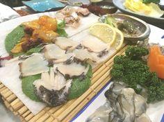 Fresh seafood sashimi!