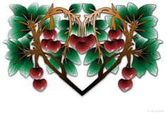page 2-portfolio Cherries, Blossoms, Art Nouveau, Abstract, Artwork, Maraschino Cherries, Summary, Flowers, Work Of Art