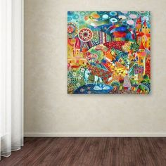 """World Menagerie 'Unicorn' Graphic Art Print on Wrapped Canvas Size: 18"""" H x 18"""" W x 2"""" D"""