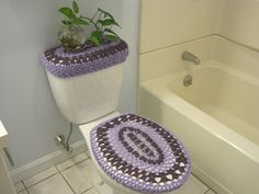 Free Crochet Patterns Crochet A Toilet Seat Lid Cover