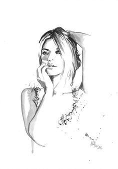 Impresión de Original ilustración de moda acuarela por Mysoulfly