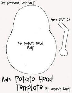Mr. Potato Head Template (There are several more free templates, including Mr. Potato Head accessories.)